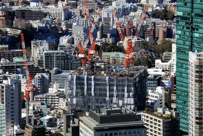 東京タワーから見た住友不動産六本木三丁目東地区プロジェクト