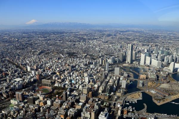 横浜の空撮