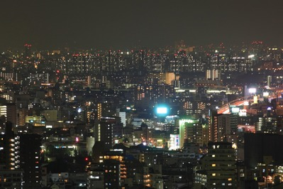 芦屋浜シーサイドタウンの夜景