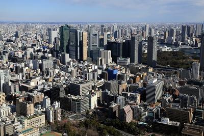 東京タワーから新橋方面の眺め
