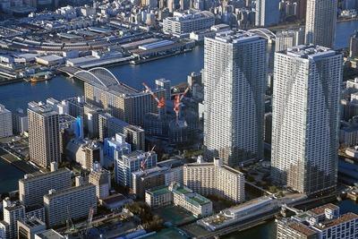 勝どき ザ・タワー(KACHIDOKI THE TOWER)の空撮