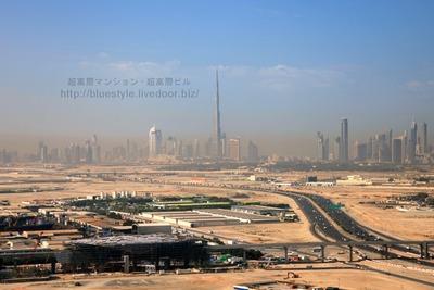 ドバイの超高層ビル群の空撮!