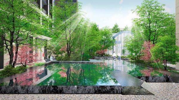 パークウェルステイト西麻布 水景完成予想イメージ