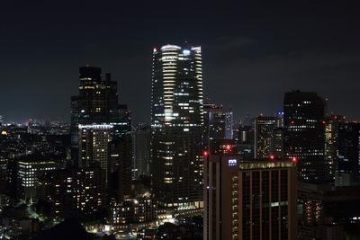 東京タワーから仙石山森タワー方面の夜景