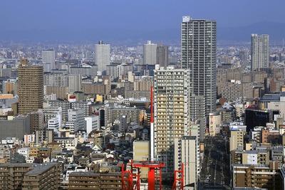 ホテル阪急インターナショナルから天六方面の眺め