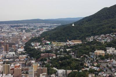 円山山頂から札幌市街の眺め