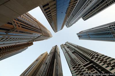 ドバイマリーナの超高層マンション群