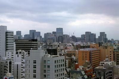 江戸東京博物館から見た大手町・丸の内・日本橋の超高層ビル群