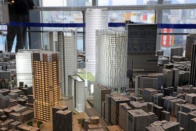 渋谷駅周辺の将来模型