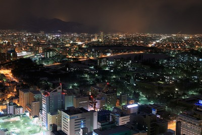 JRタワーから見たブランズタワー札幌方面の夜景