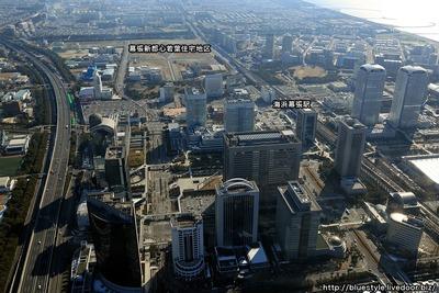 幕張新都心の超高層ビル群の空撮