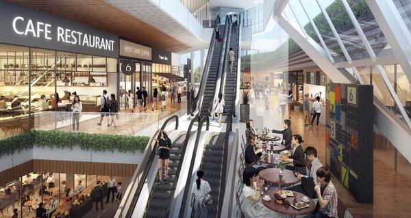 大宮駅西口第3-A・D地区第一種市街地再開発事業 2F 商業吹き抜けイメージ