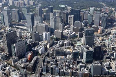 日本橋・丸の内・大手町の空撮