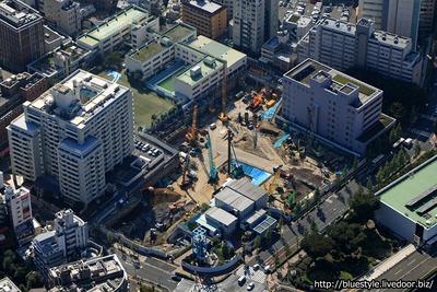 渋谷区役所建替プロジェクの空撮