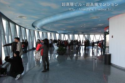 広州タワー(Canton Tower)の展望室内
