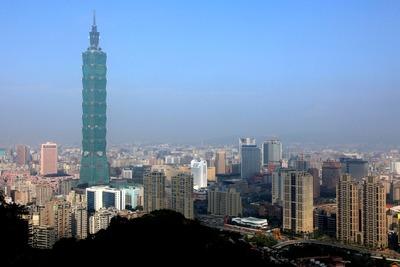 像山から見た台北101方面の景色