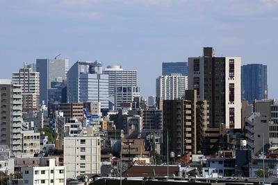 目黒天空庭園から見た目黒・五反田・大崎方面