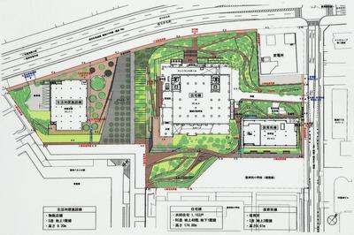 豊洲地区1-1街区開発計画 配置図