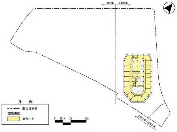 東金町一丁目西地区市街地再開発事業 建物平面図(地上8〜38階)