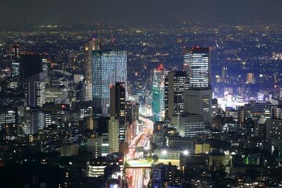 六本木ヒルズから渋谷方面の夜景