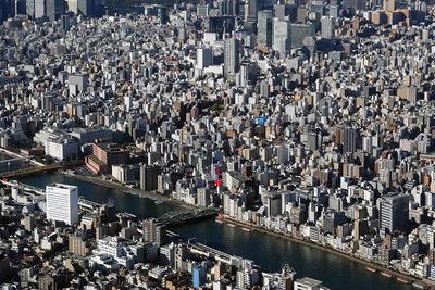東京スカイツリーから見た蔵前方面の眺め