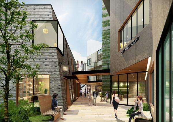 (仮称)渋谷区道玄坂二丁目開発計画 建物イメージ