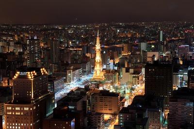 JRタワーからさっぽろテレビ塔方面の夜景