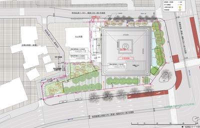 西新宿六丁目計画(仮称) 配置図