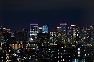 東京駅方面の夜景
