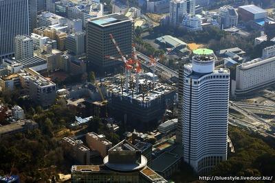 東京ガーデンテラスの空撮