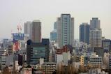 アパホテル大阪肥後橋駅前からの眺め