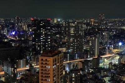 東京タワーから麻布十番方面の夜景