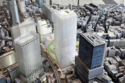 渋谷の将来模型
