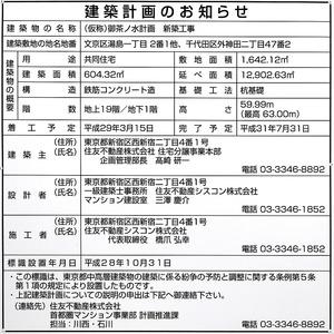 (仮称)御茶ノ水計画 新築工事 建築計画のお知らせ