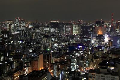 世界貿易センタービルから見た霞ヶ関・内幸町・西新橋方面の夜景