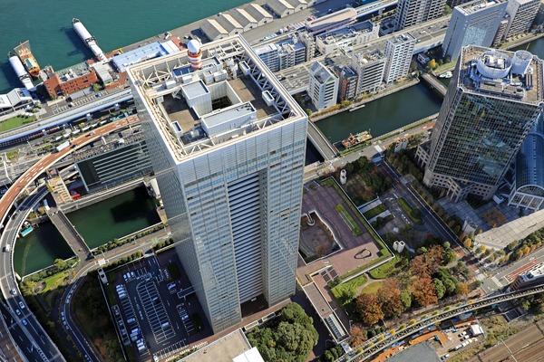 浜松町ビルディング(東芝ビルディング)の空撮