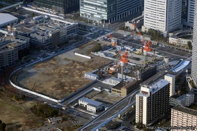 豊洲駅前の空撮