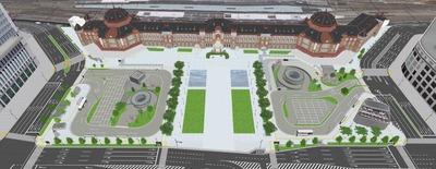 東京駅丸の内駅前広場整備のイメージ図