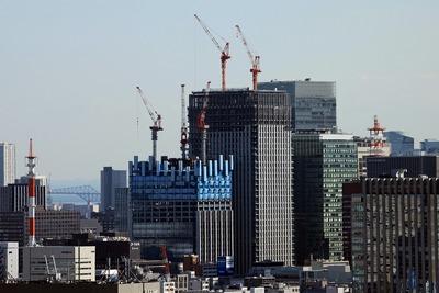 文京シビックセンターから見た大手町一丁目第2地区再開発