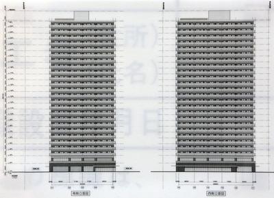 (仮称)神田東松下町プロジェクト 南側、西側立面図