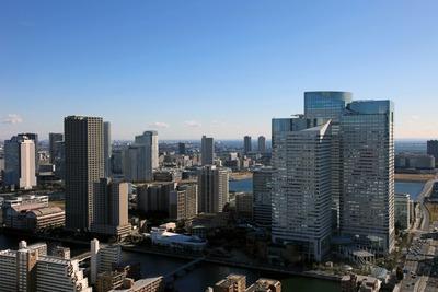勝どきビュータワーから見た晴海トリトンスクエア