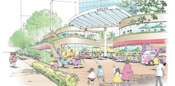 大宮駅西口第3-A・D地区第一種市街地再開発事業 北西側広場イメージ(まちなかプレイス)
