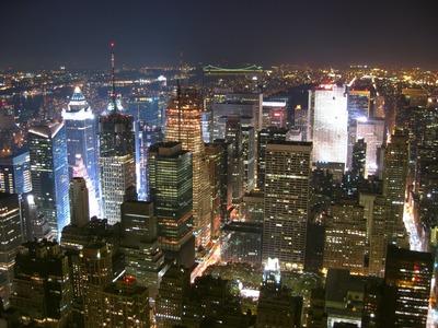 エンパイアステートビルから見るニューヨークの夜景