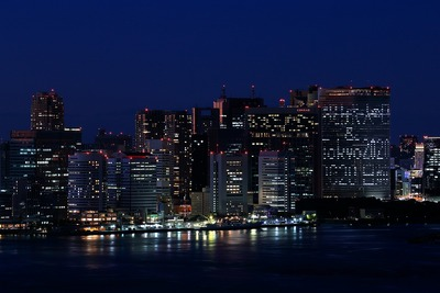 フジテレビ球体展望室「はちたま」からの夜景