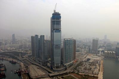 空撮 Union Square Hong Kong