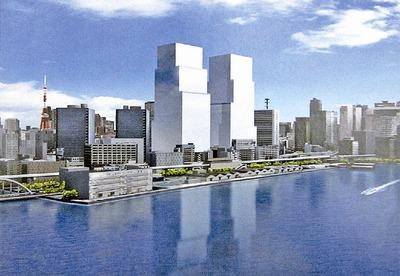 芝浦一丁目建替計画 完成予想図