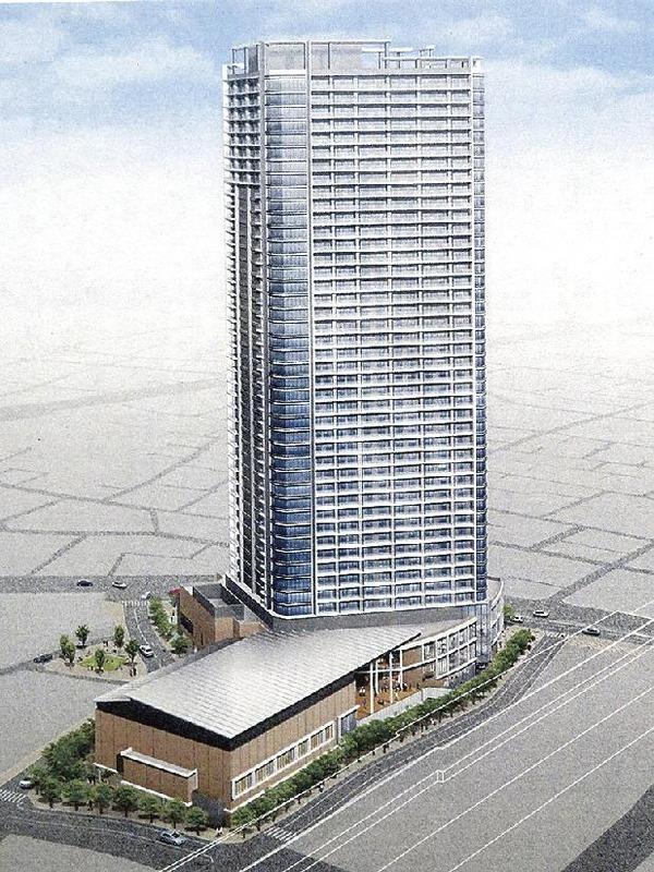 三河島駅前北地区再開発 完成予想図