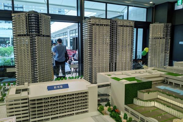 シティタワーズ東京ベイの模型