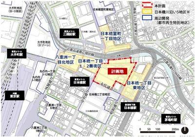 日本橋一丁目中地区 位置図