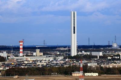 水戸芸術館シンボルタワーから見たG1TOWER